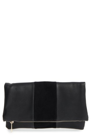 BP Tonal Stripe Foldover Clutch
