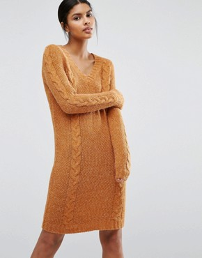 SOS Vila V Neck Sweater Dress