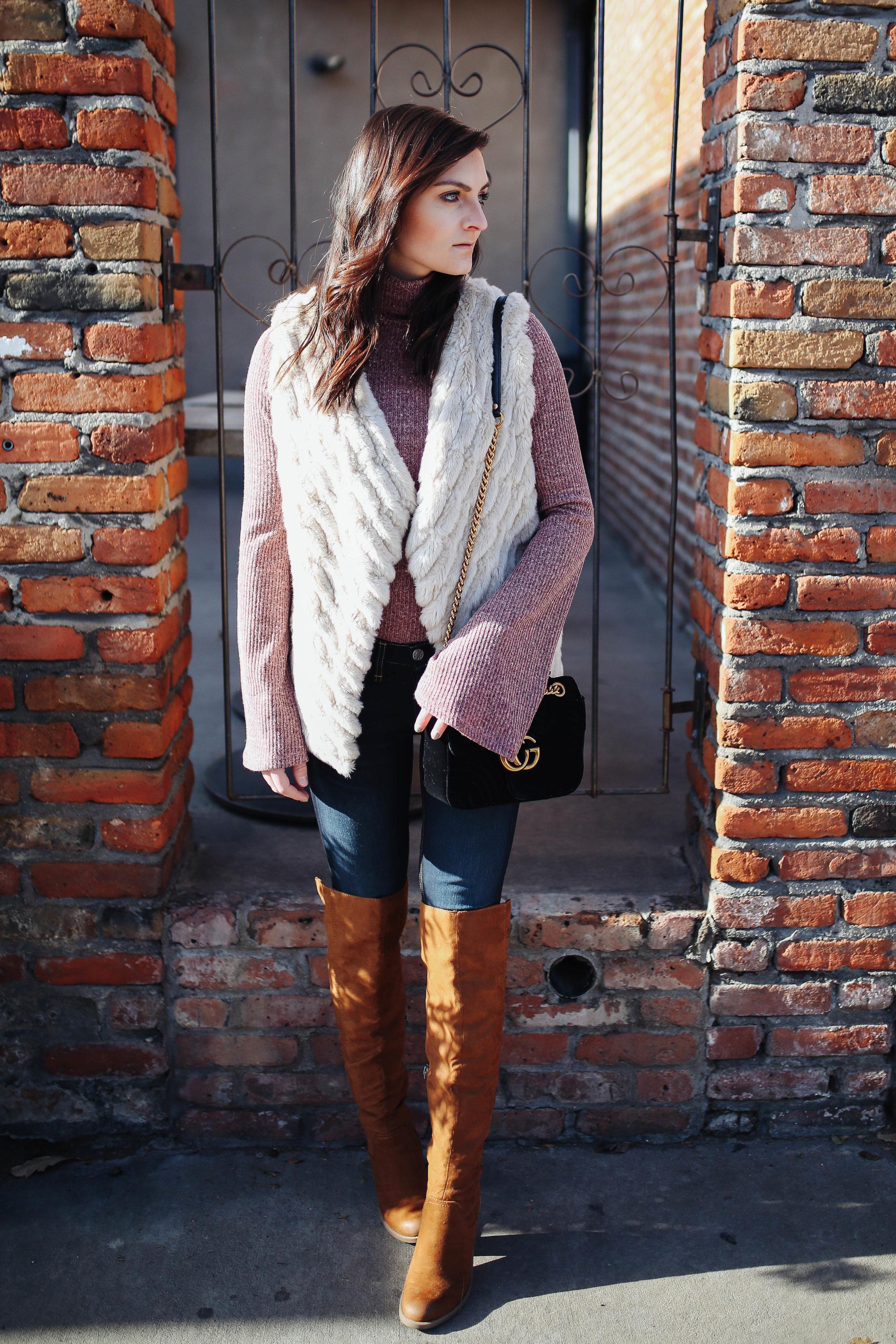 """<img src ="""" bell sleeves.jpg"""" alt = """"trending-bell-sleeves-otk-boots-bb dakota-keith-faux-fur-vest"""">"""