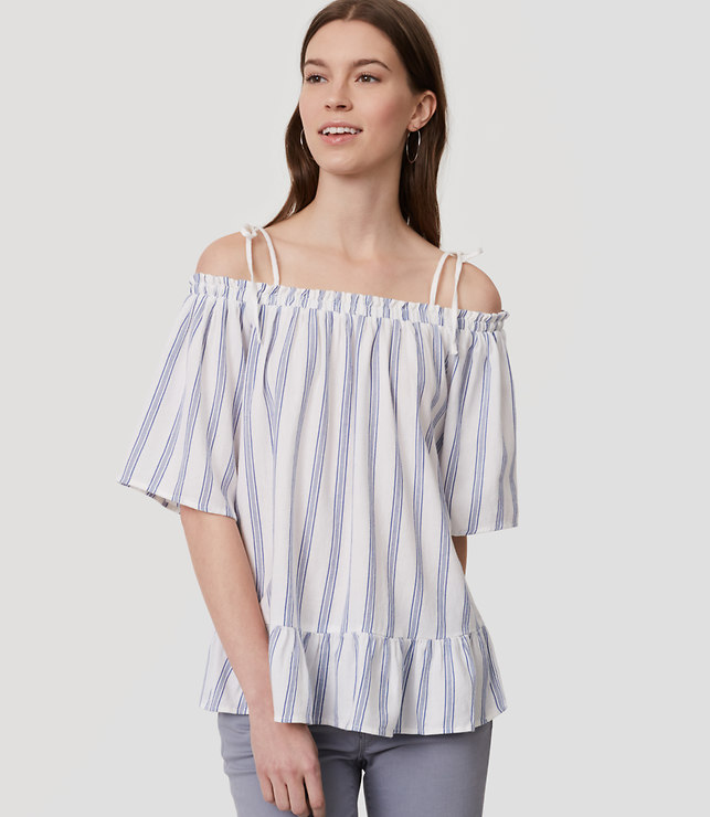 striped ruffle off the shoulder top.jpg