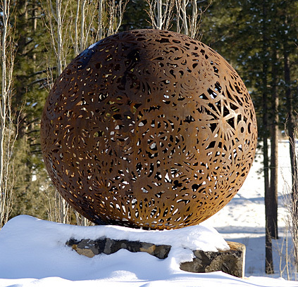 Orb by Brandon Zebold  at Mt. Washington and Skyliners (the closest roundabout to UUFCO)