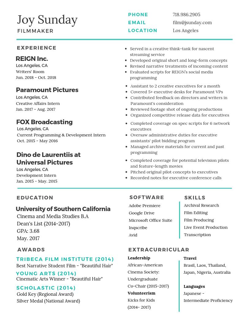Desk Resume -