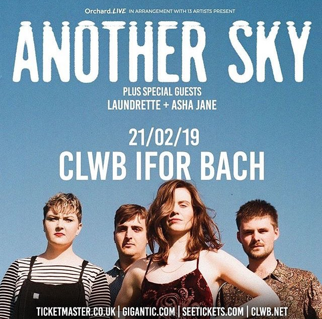 Tomorrow Laundrette plays @clwbiforbach with @anothersky