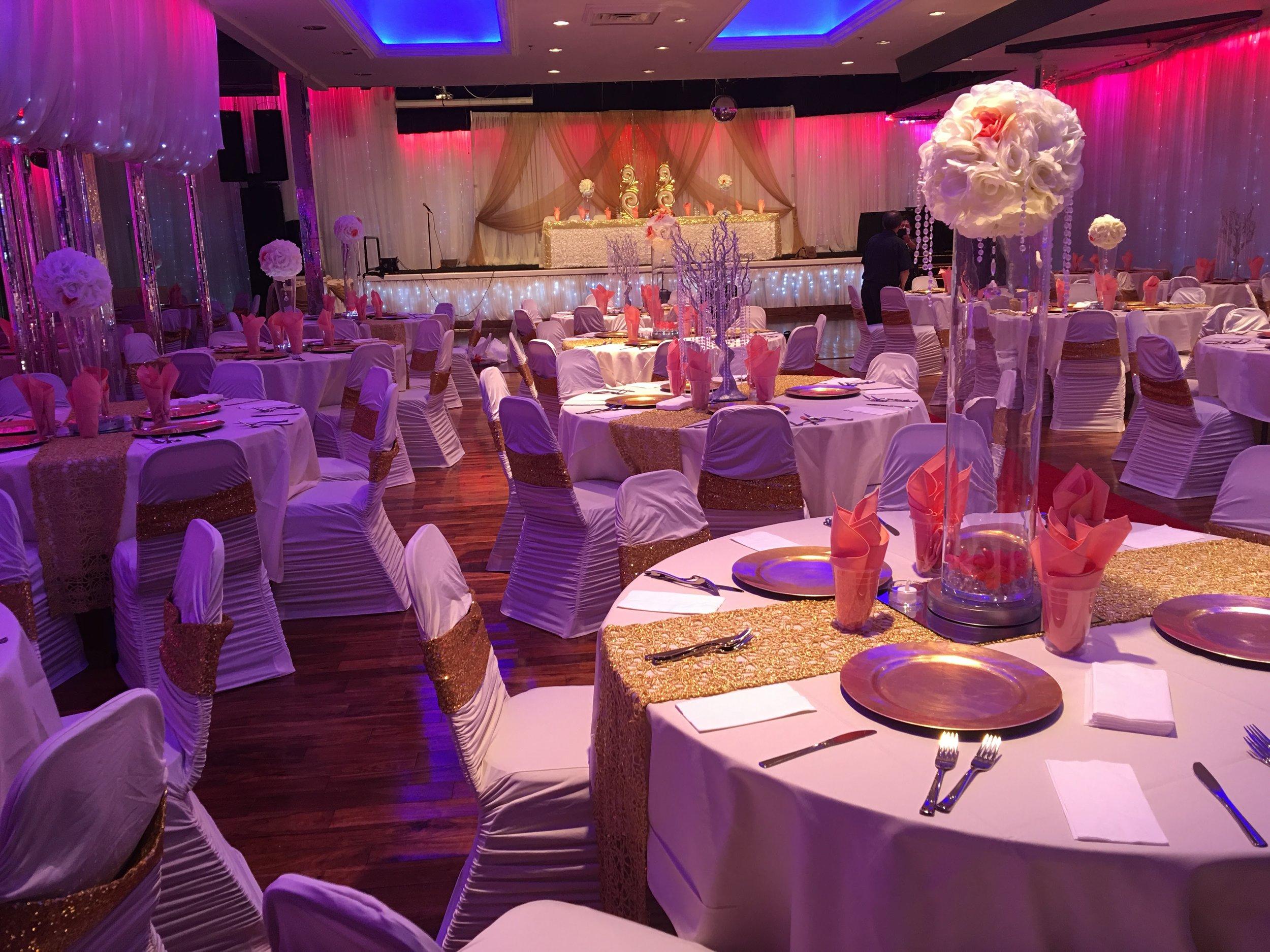 Full Event Decor Wedding Ceremony & Reception