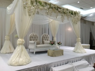 White Themed Wedding With Draping
