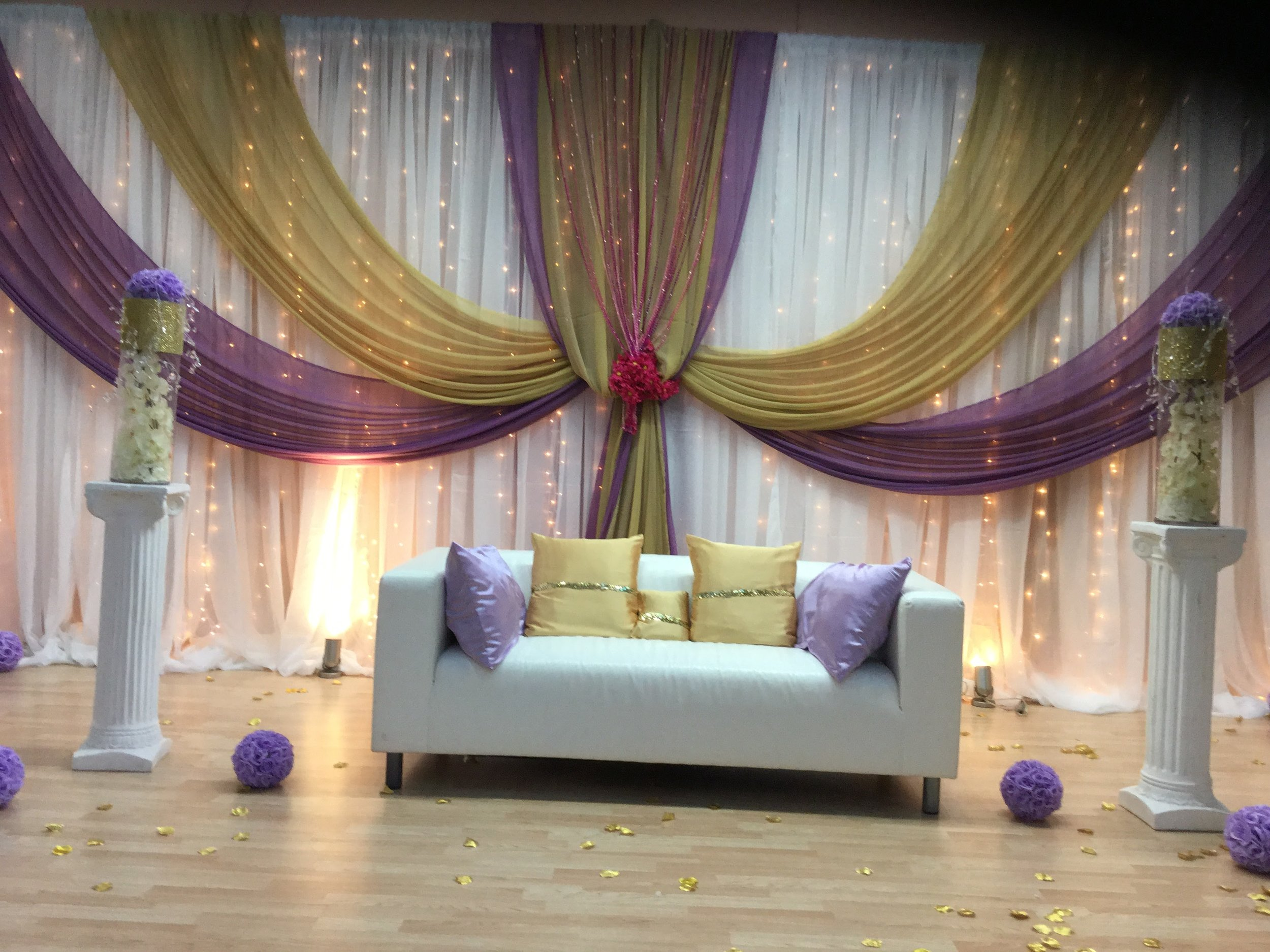 Wedding Draping Decor and Lounge Furniture