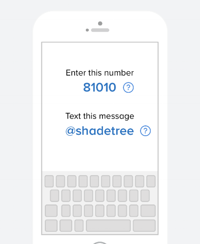 Get student ministry updates by texting the message above!
