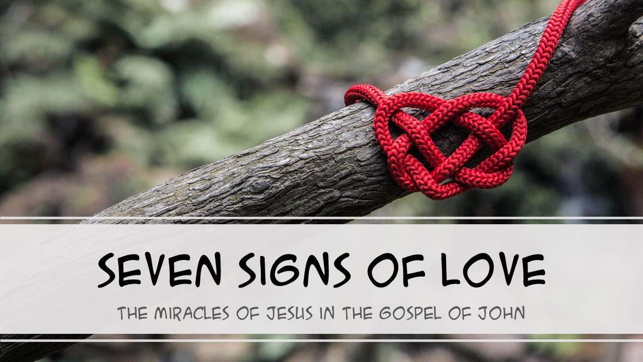 The Gospel of John records seven signs to show us the love of God in Christ
