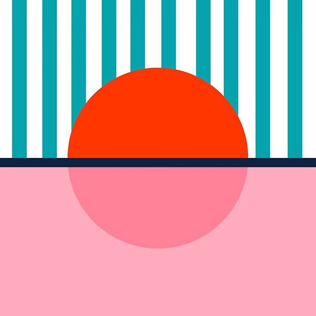 Dancing With The Stars. Stage Design. Sunset (3/3) . . . . . #dwts #dancingwiththestars #hotsummernights #design #sunset #pastels #pink #minimal #art #graphic