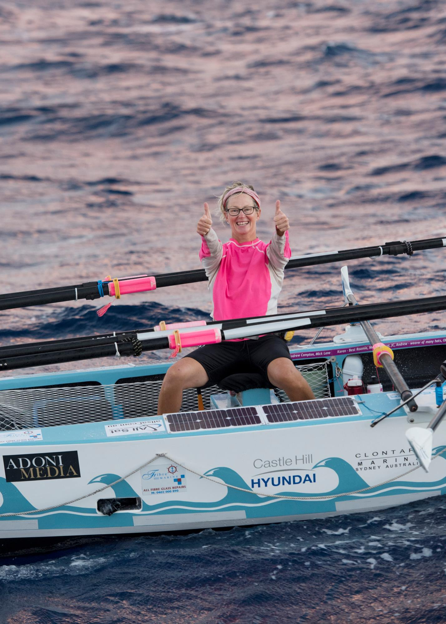 Michelle happy with 440 nm to go!  Photo credit: Robin Skjoldborg