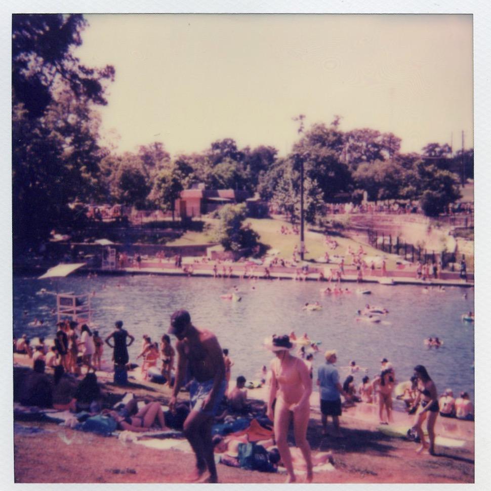 Barton Springs. Polaroid.