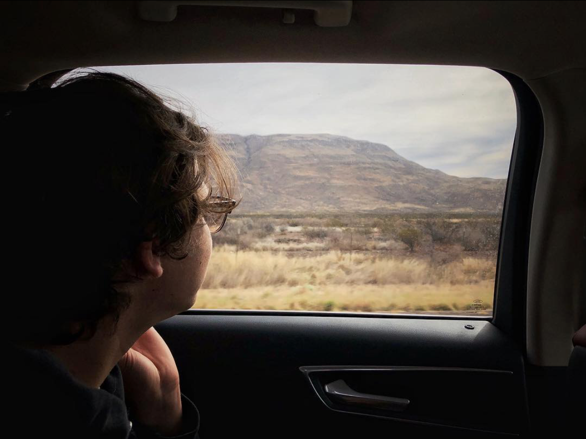Road trip. iPhone.