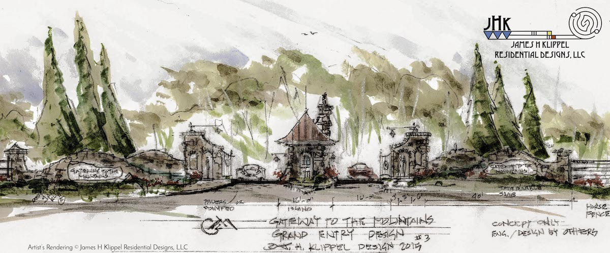 Gate entry rendering-design water color_© James H Klippel.jpg
