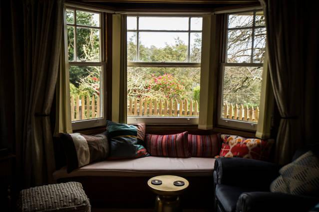 Window seat garden view