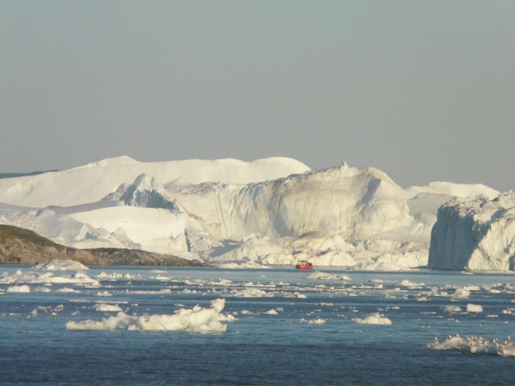 the massive icebergs of Disko Bay