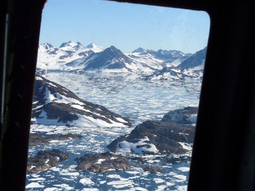 Tasiilaq region's distinctive pointy peaks and glassy seas