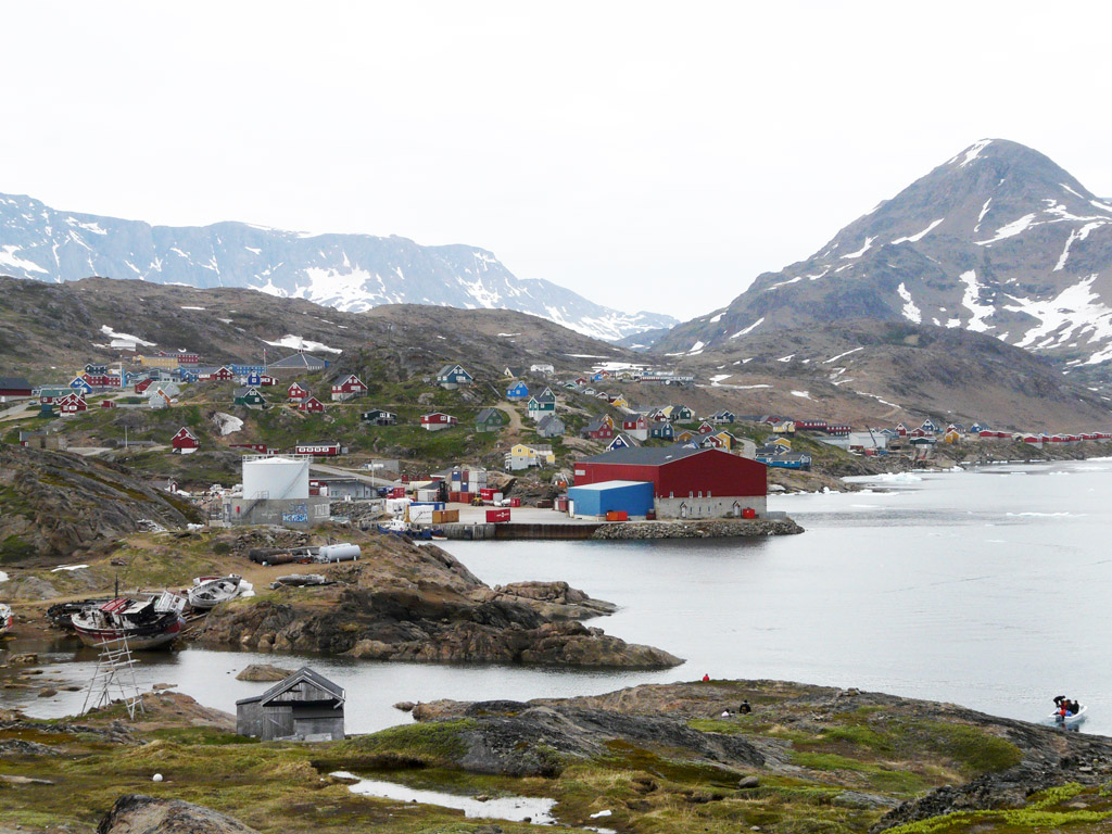 Tasiilaq harbor.  Plenty of snow and ice even in late June