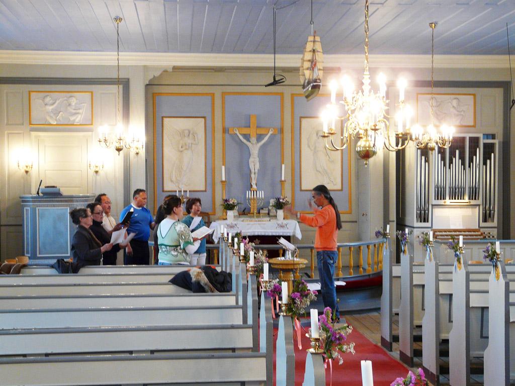 choir rehearsal with director Per Rosing