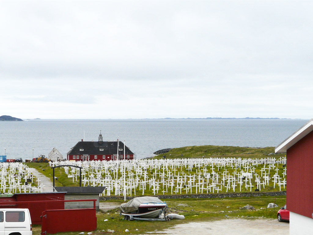 old Moravian mission and cemetery in Nuuk