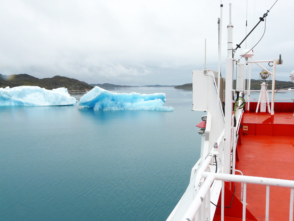 some of South Greenland's famous blue ice