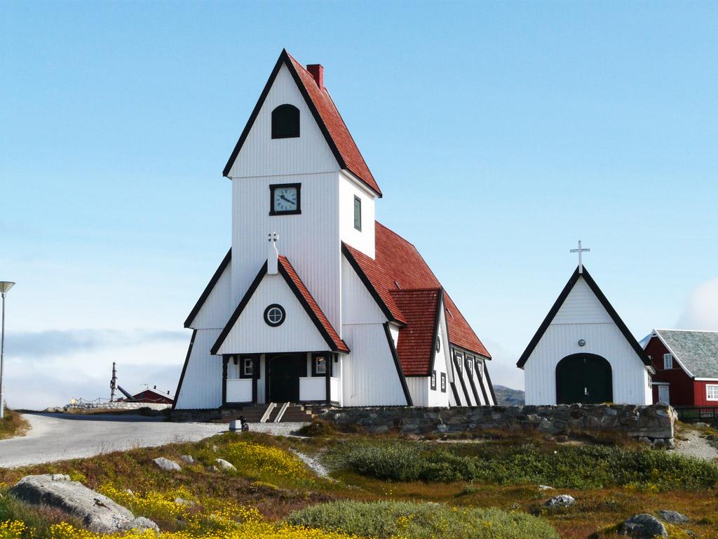 Nanortalik's unique rocket-shaped church