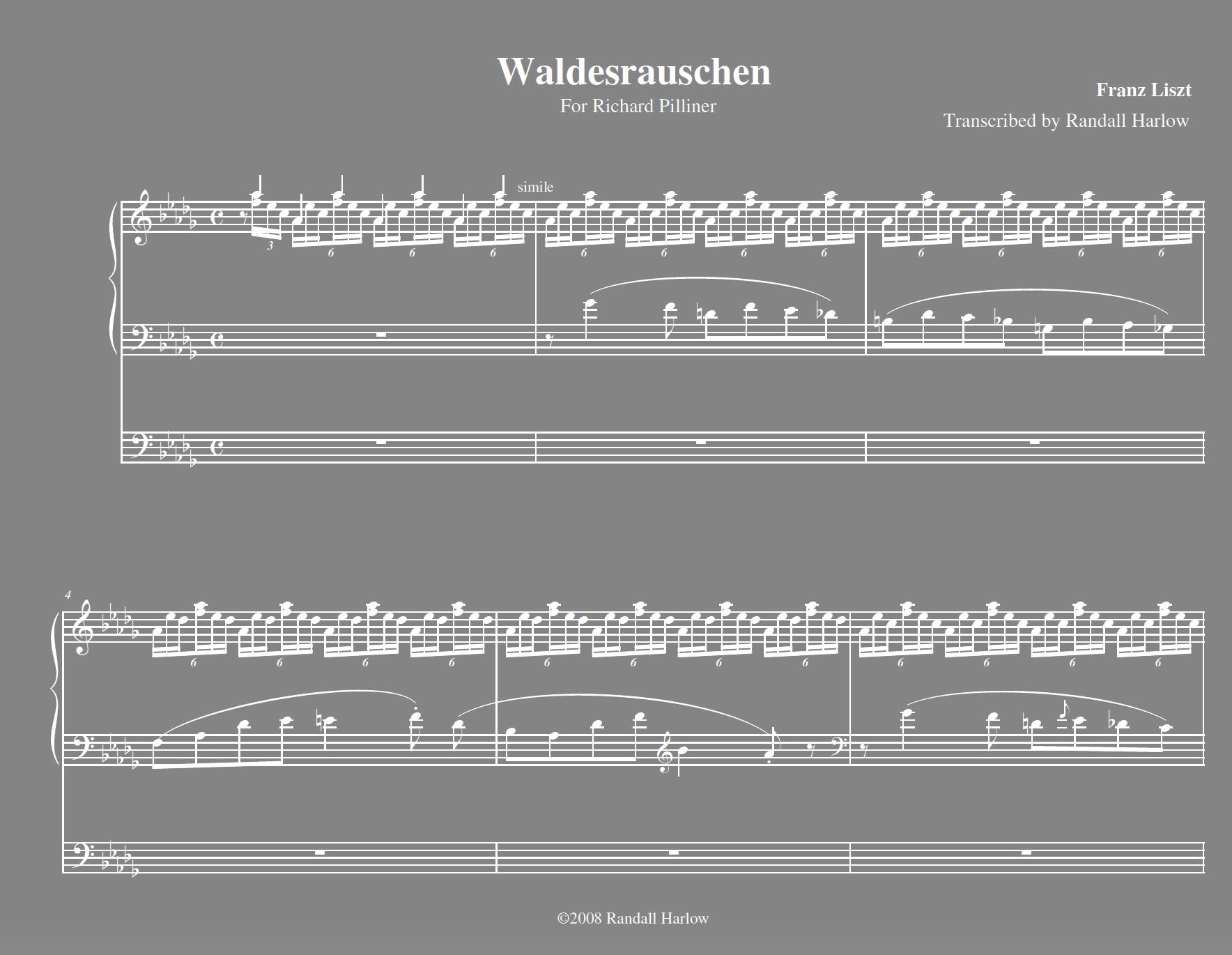 Liszt Waldesrauschen for organ