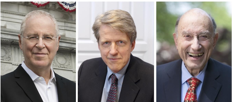Ron Chernow, Robert J. Shiller and Michael I. Sovern