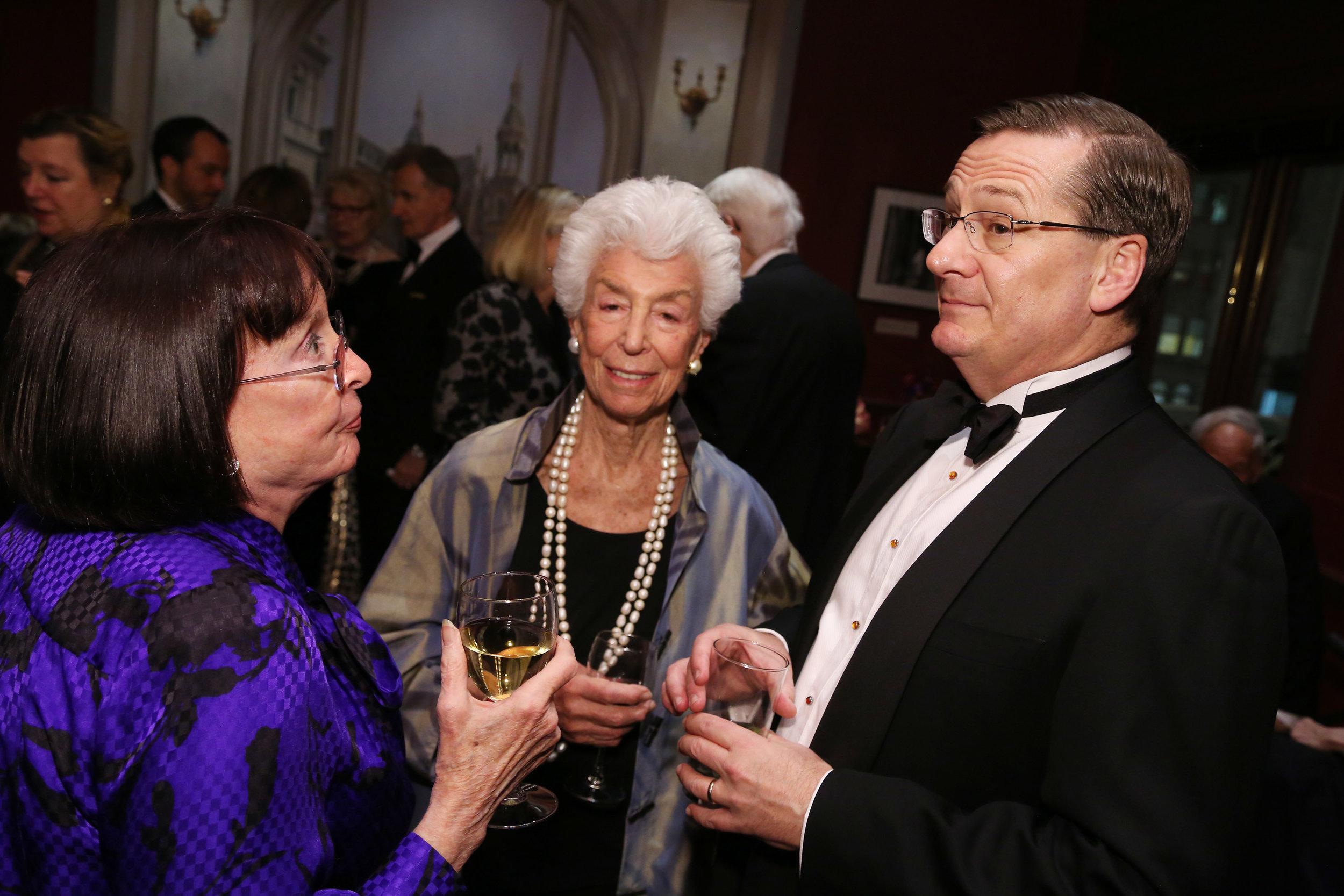 Judith Kernstadt, Joan Davidson, and Fred Larsen