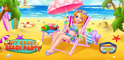 Crazy Beach Party  It's getting hot out and all of your friends are going to the crazy beach party! Hurry up, there is no time to lose! Let's pack your things and drive to the beach as soon as possible!