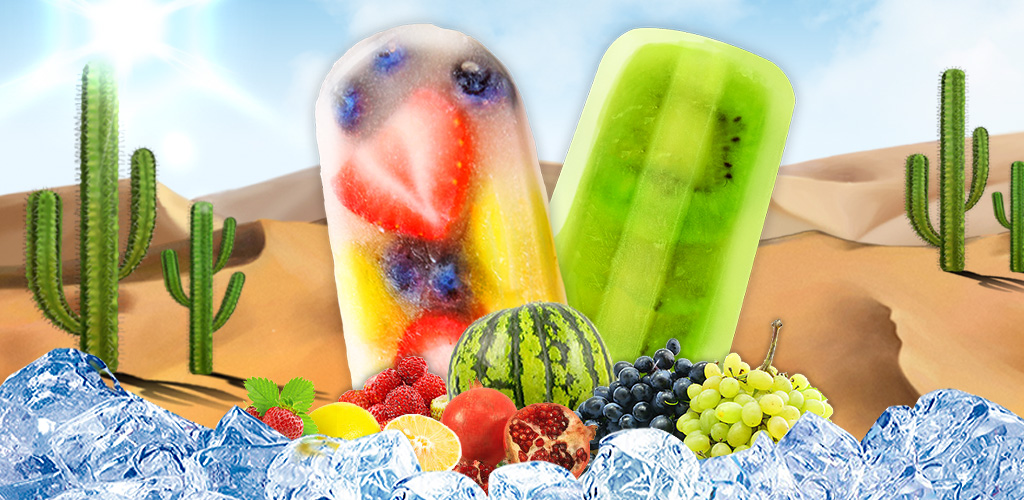 Ice Pops & Popsicle Maker  Craving some rainbow colored sugar desserts? Make fruits flavor ice pops here!