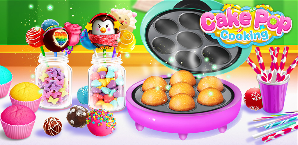 Cake Pop Cooking!  Real cooking game for kids! Make & design in different flavors and shapes!