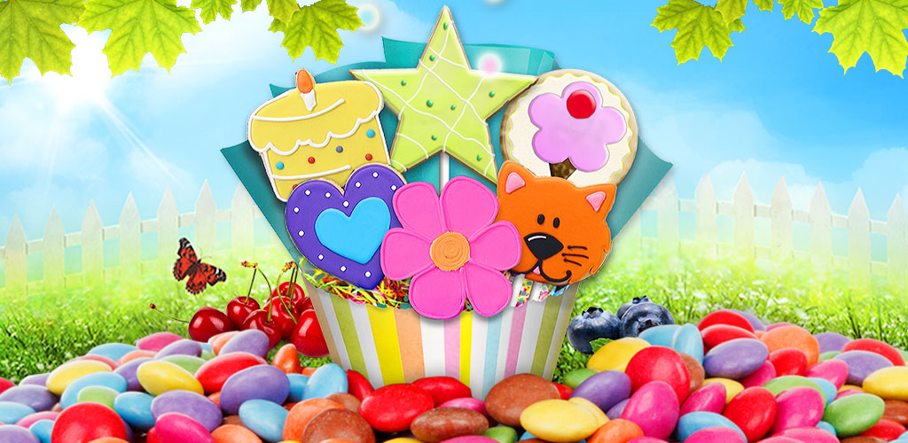 Cookie Pop Maker - Cooking Fun!  Make and cook yummy desserts! Many flavors, shapes, colors & decorations!