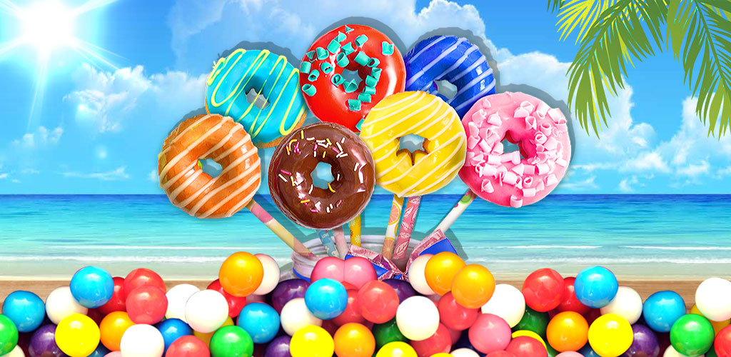 Donut Pop Maker  Bake donut with many flavors and cute shapes. Decorate with candies & chocolate!