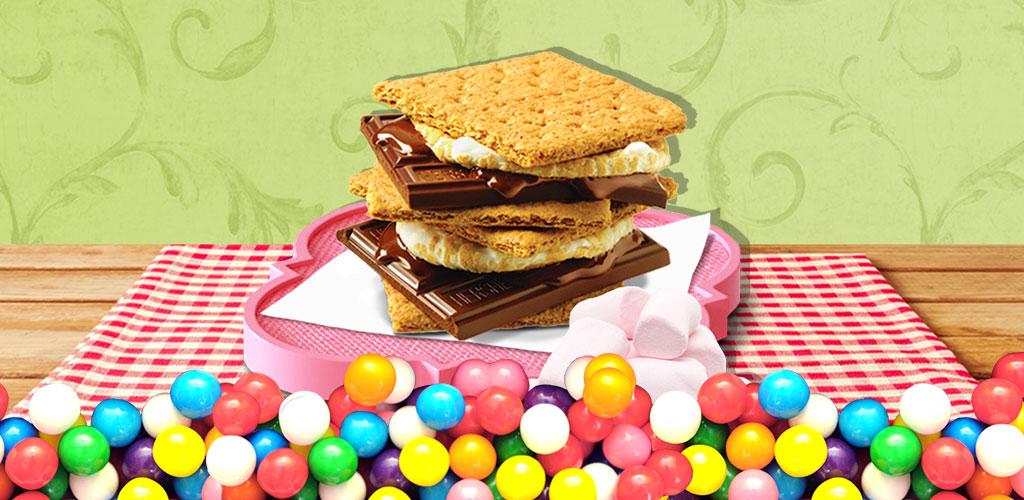 Marshmallow Cookie Bakery!  Make & bake cookie easily! Decorate! Kids fun food & kitchen game! Yummy!