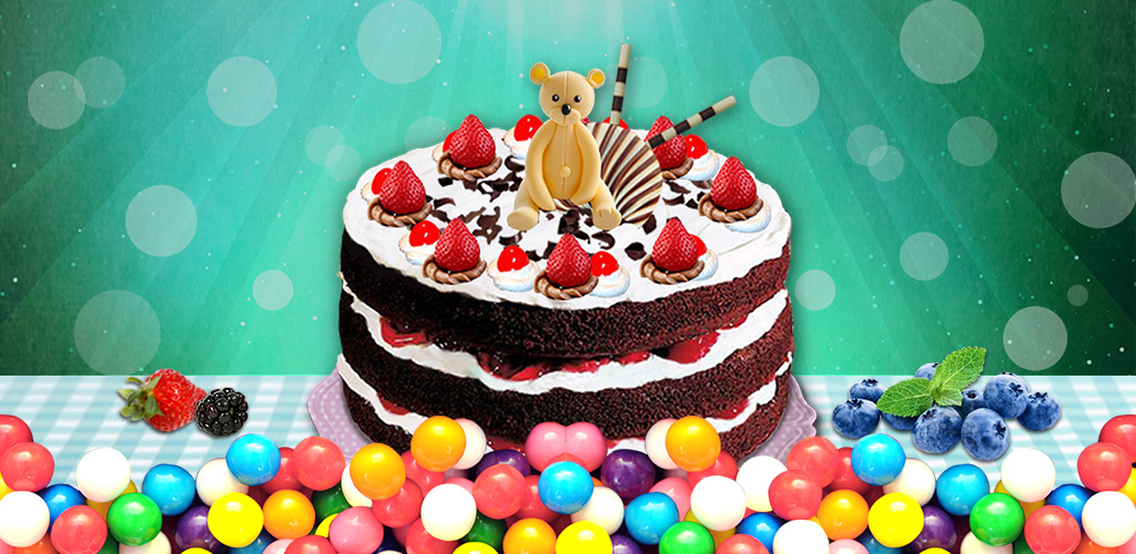 Cake! - Free  Make & bake cakes. Design the shape & decorate with candies, chocolate & fruits!