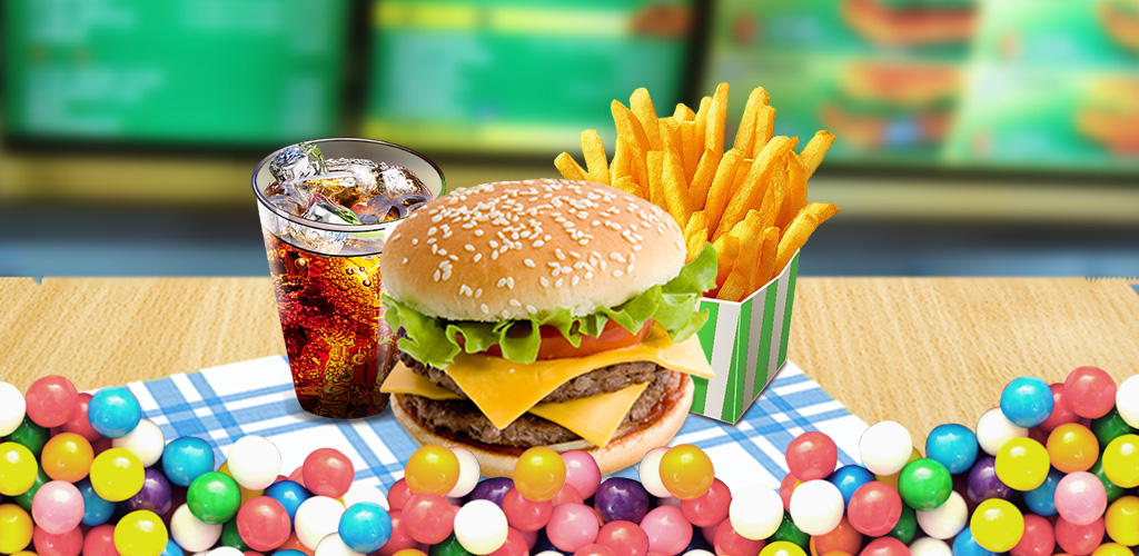 Fast Food! - Free Make Game  Cooking hamburgers, sandwich, French fries and salad for your lunch!