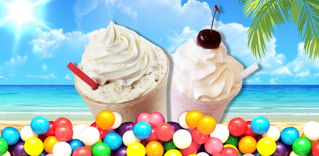 Milkshake Mania - Cooking Game  Make summer ice drinks with cool machine. Many flavors, fruits, cups & colors!