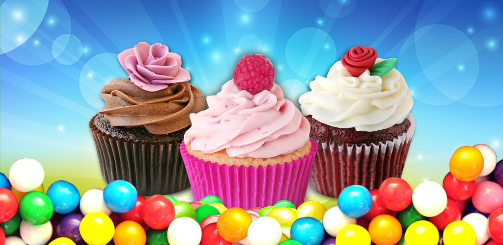 Cupcake Mania! - Free Game  Bake cakes first, then chose a lovely cup. Decorate with cream and toppings!
