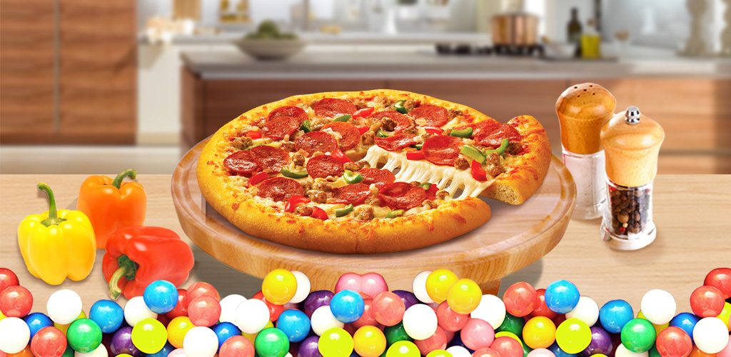 Pizza Maker - Free!  Pizza rocks for lunch! Start from kneading dough & mix with tons of fun toppings.