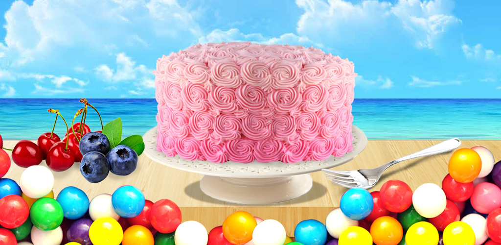 Cake Maker - Free!  Bake, coated with creams & decorate! Just like you're making a real cake!