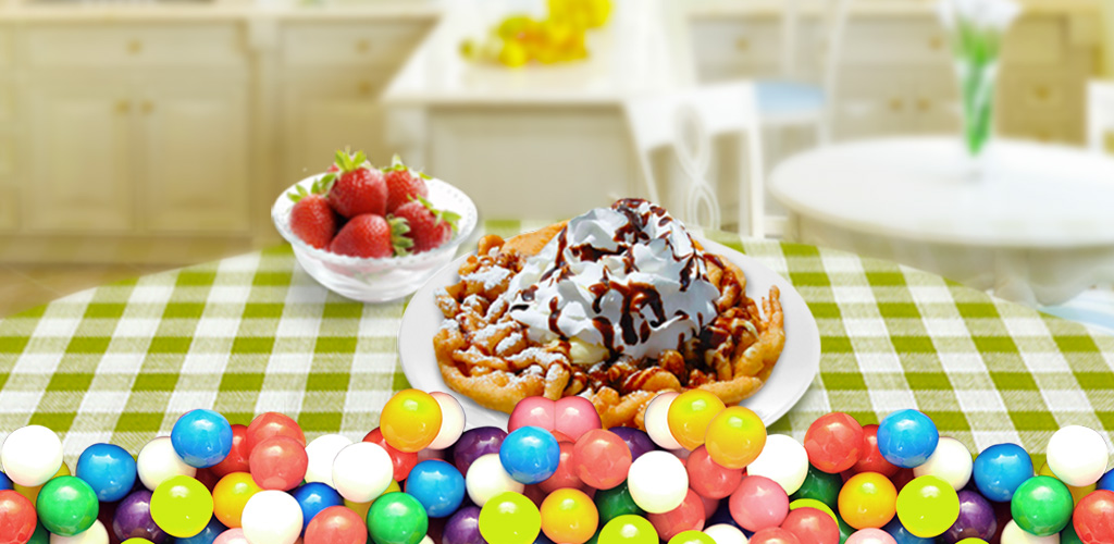 Funnel Cake Maker! Food Game  It's time to test your funnel cake making skills with this awesome new Funnel Cake Maker!!! With this cool app, you can now make funnel cake in the comfort of your own home!