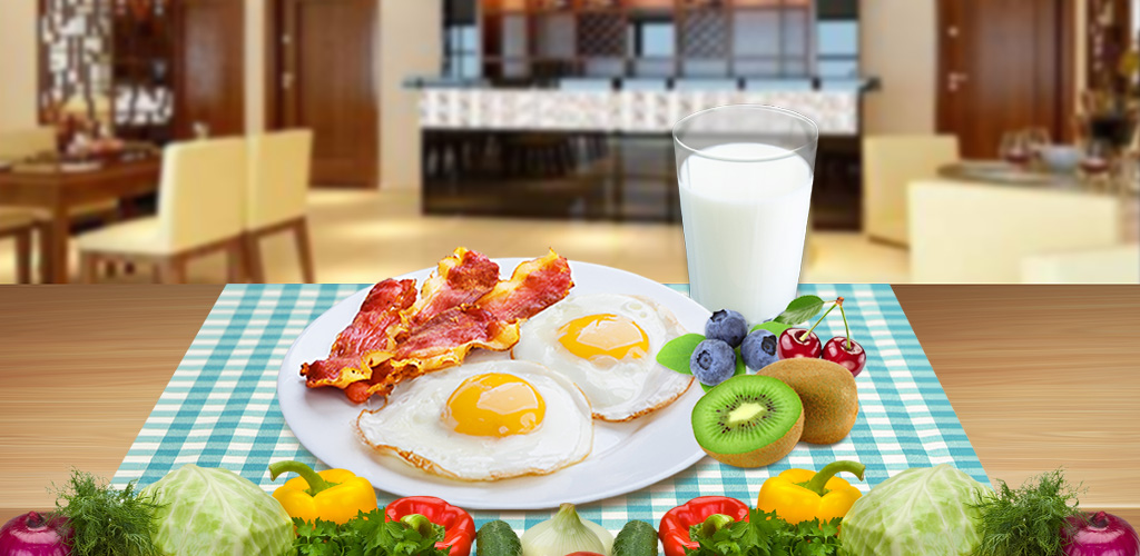 Make Breakfast Food!  Time to wake up sleep head! Get up with a smile because the sun is shining!!! Have some super good food to make sure you're in tip top shape for the day ahead!