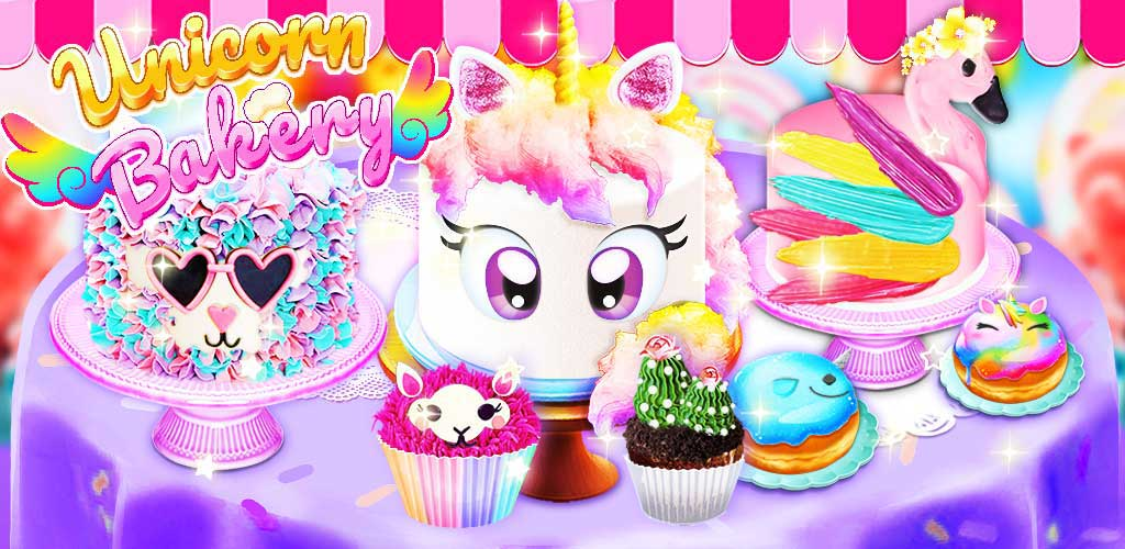 Unicorn Chef: Baking! Cooking Games for Girls - Unicorn Bakery Girl Game! Cake, Cookies, Cupcakes, Donuts, Cakepops & more!