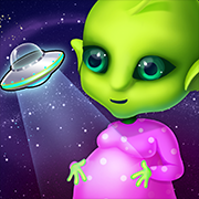 Mommy's Cute Newborn Alien Baby  Ready for some out of this world fun? Want to help mommies take care of babies, no matter where in the galaxy they come from?