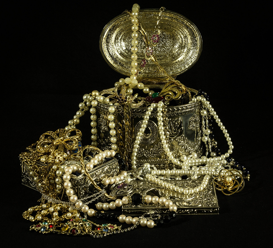 A treasure box filled with precious gems