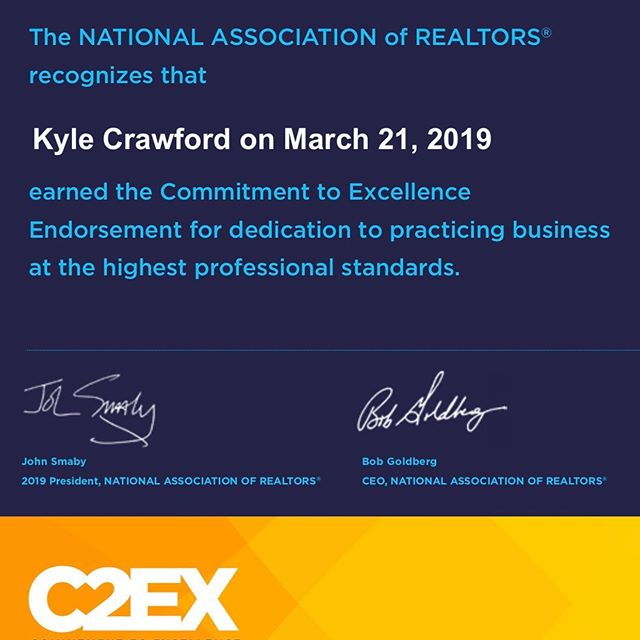 Better late than never! But very honored to be recognized by @nardotrealtor and their incredible program.
