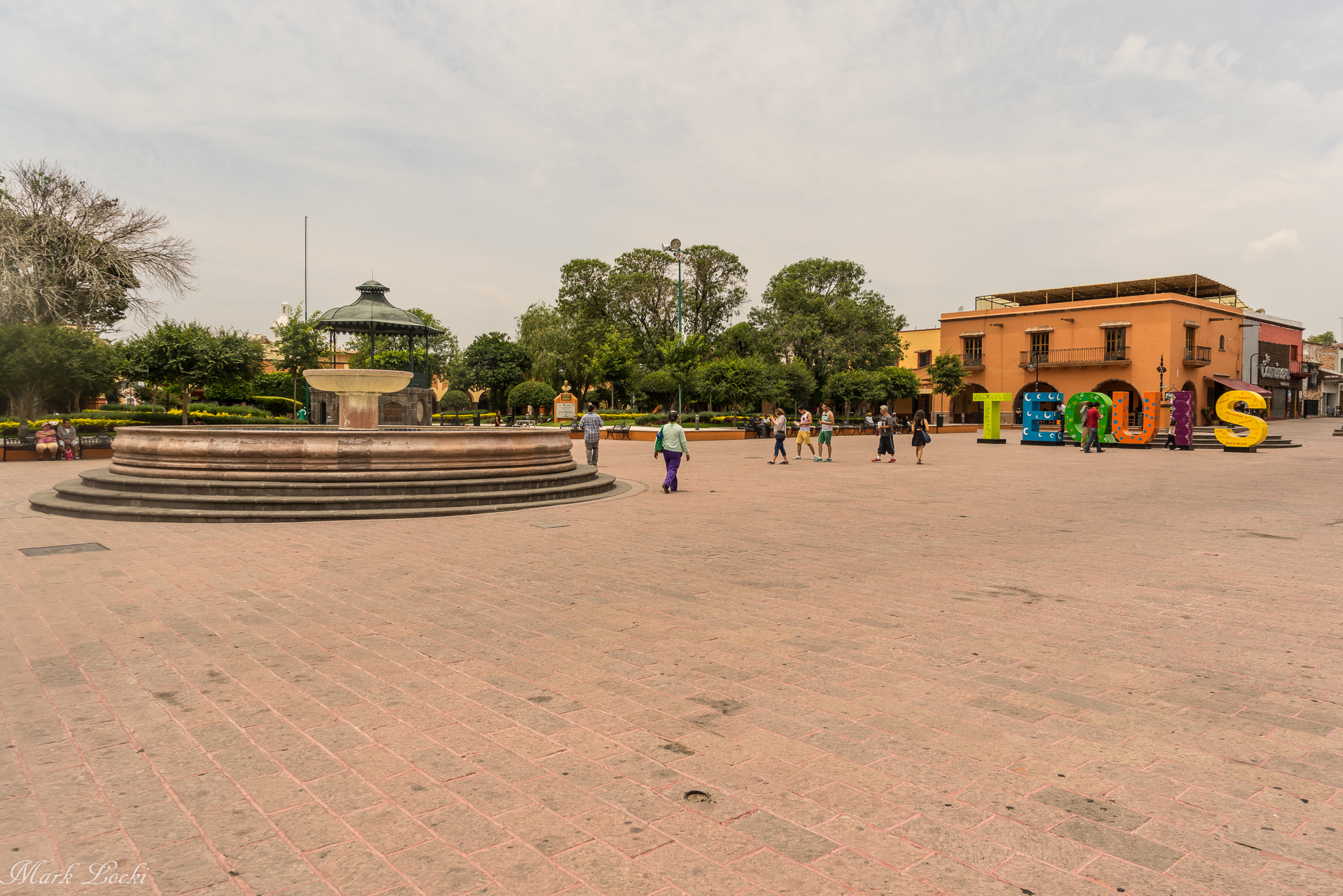 The town square in Tequisquiapan