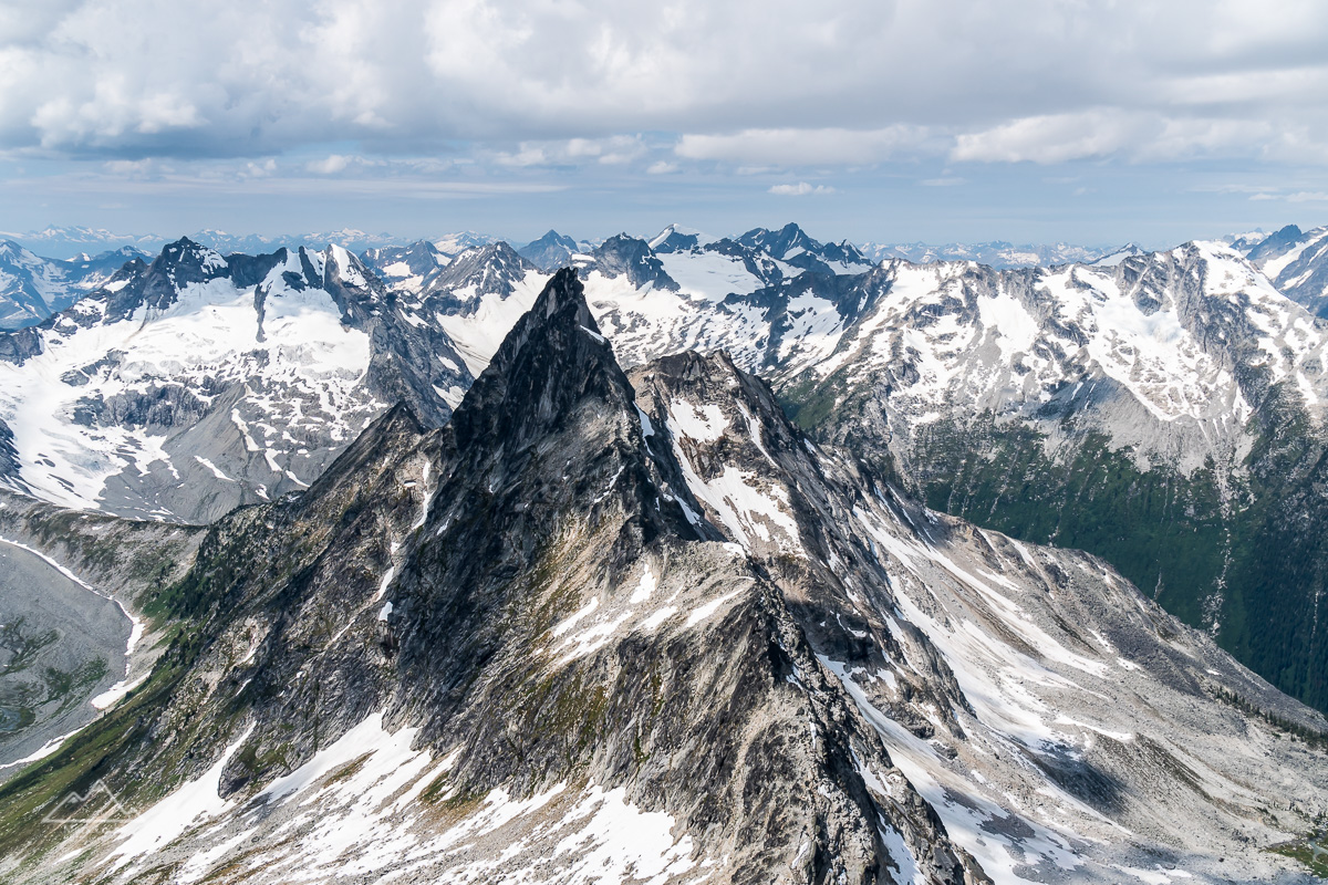 Thumb Spire, one of the more stunning peaks in the area