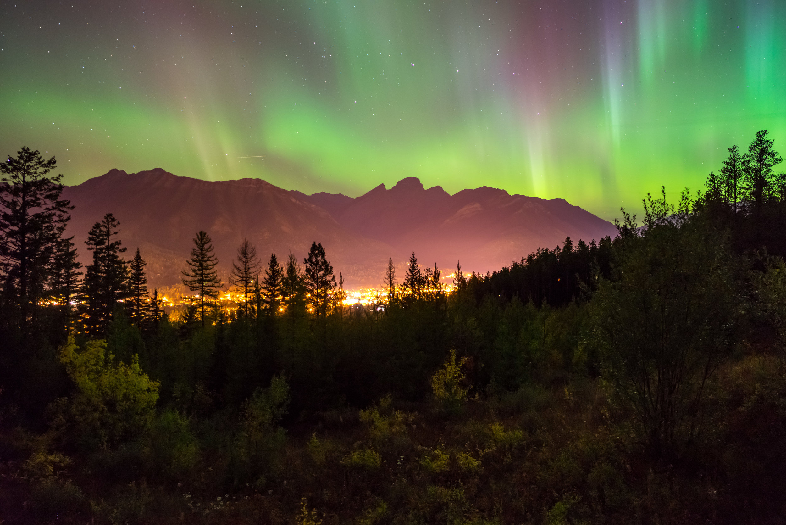 Aurora over Fernie