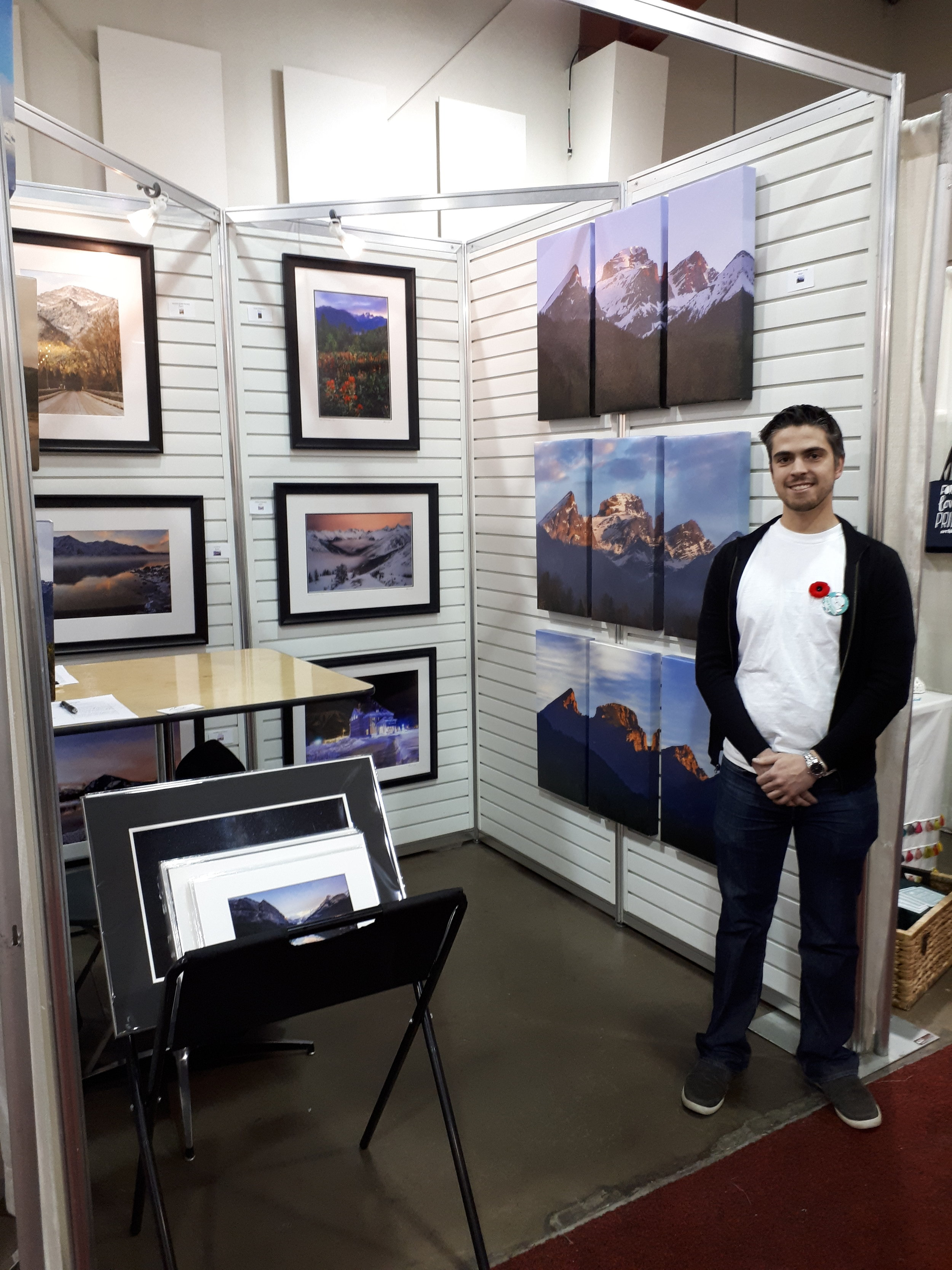 My booth at the Make It Show in Calgary